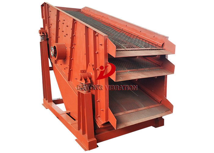 Sing Deck Stone Circular Vibrating Screen Sifting For Coal Ore