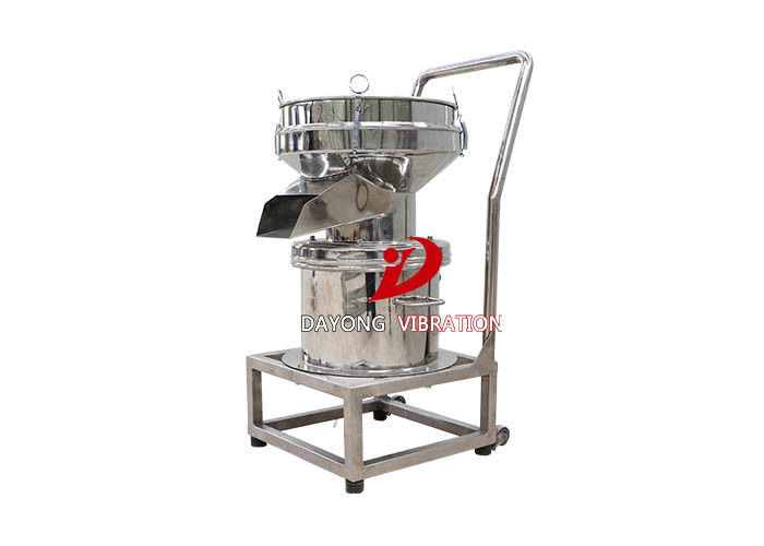 Mobile Fully Enclosed Single Layer Orange Juice Vibrating Screen Filter With Stainless Steel Material